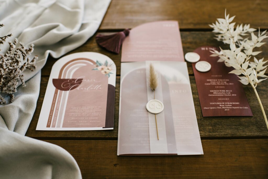 elegant wedding stationery by Two Little Words